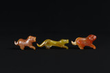 Valuable precious Carnelian Pyu tiger ancient loose beads on black cloth - 181100528