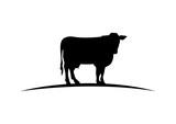 Black Cow Illustration Logo Silhouette