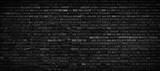 Black brick wall background.