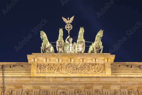 Quadriga sculpture on Brandenburg Gate