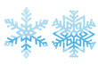 Snowflakes. Blue symbol isolated on white background
