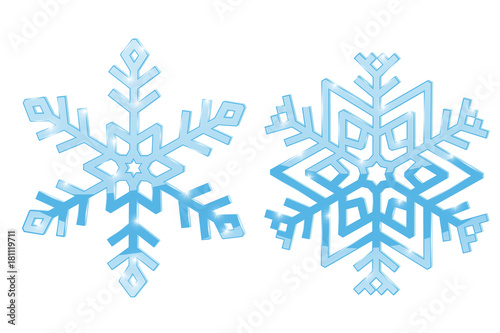 Snowflakes. Blue symbol isolated on white background - 181119711