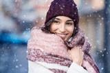 Woman in snowy winter - 181127983
