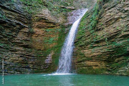 Водопад в ущелье Руфабго, Адыгея.