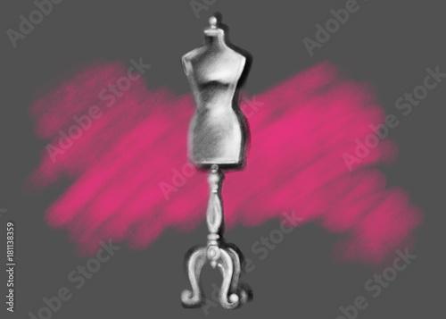 mannequin. fashion illustration