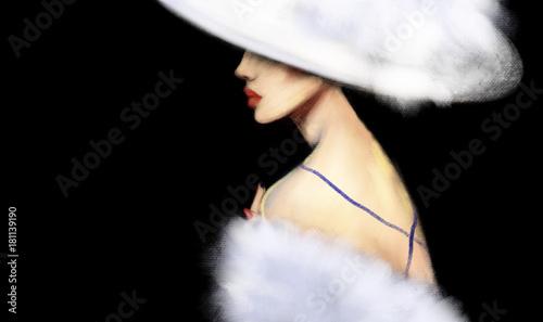 Elegant lady. Fashion illustration.
