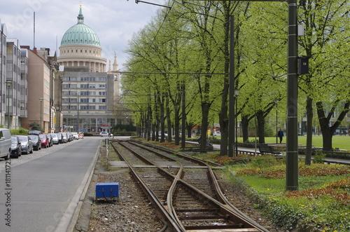 Foto op Plexiglas Spoorlijn ポツダムの風景