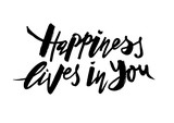 Happiness lives in you