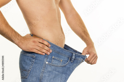 man after successful diet