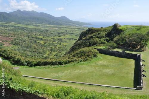 Foto op Canvas Pistache Brimstone Hill Fortress, St. Kitts