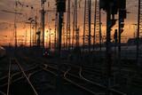 Bahnhof im Sonnenuntergang
