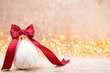 Christmas decor with background light spots and bokeh.