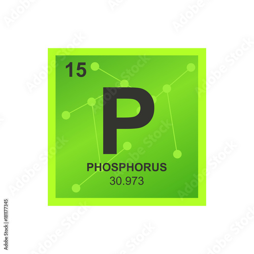 Vector Symbol Of Phosphorus From The Periodic Table Of The Elements
