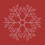 moderne Weihnachtskarte - goldene Schneeflocke - 181177964