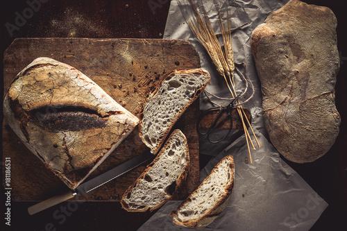 Fototapeta Bread Top View