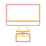 monitor computer graphic tablet design equipment vector illustration - 181193555