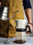 Barista making drip coffee - 181207107