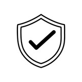 line shield security protection web symbol - 181207715