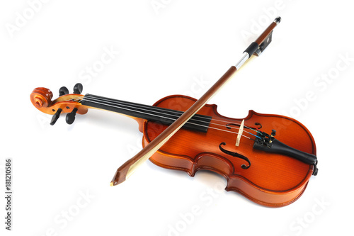 Violin isolated on white background - 181210586