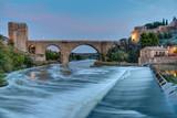 The Puente de San Martin in Toledo, Spain, at dawn