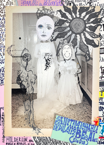 Foto op Canvas Imagination Scrapbooks,collage,patchworks bizzarri,surreali,misteriosi ed esoterici
