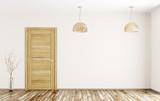 Interior of room with wooden door 3d rendering - 181215376
