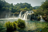 Kaka Waterfall, Krka National Park, Sibenkik -Knin, Croatia