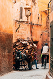 streets of marrakech old medina, morocco