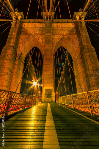 Plexiglas Brooklyn Bridge Brooklyn bridge long exposure