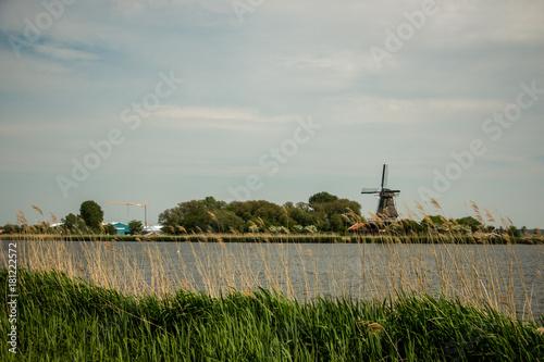 Deurstickers Bleke violet Netherlands Landscape