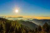 Fototapeta Na ścianę - Traumhafte Aussicht auf Landschaft im Schwarzwald / Schwarzwaldhochstraße © xx85xx
