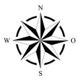 Kompass Rose Wind Rose Marine Seefahrt Isolierter Hintergrund  Ai Eps Wall Sticker