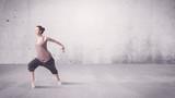 Pretty urban dancer with empty background - 181234908