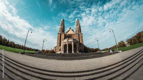 Deurstickers Brussel Basilique du Sacré-Cœur de Bruxelles