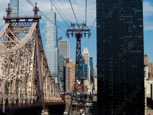 Foto op Aluminium New York Cable way
