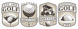 Set of vintage golf emblems