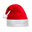 Quadro Santa Claus red hat isolated on white