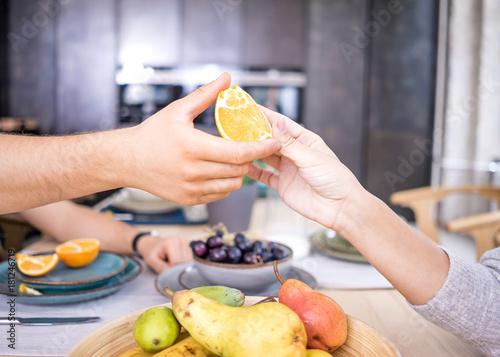 Fridge magnet Obst zum Frühstück