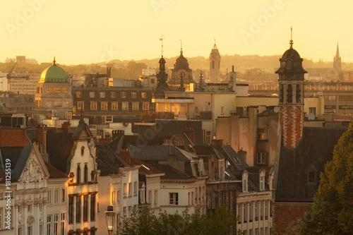 Deurstickers Brussel Old city of Brussels, Belgium before sunset