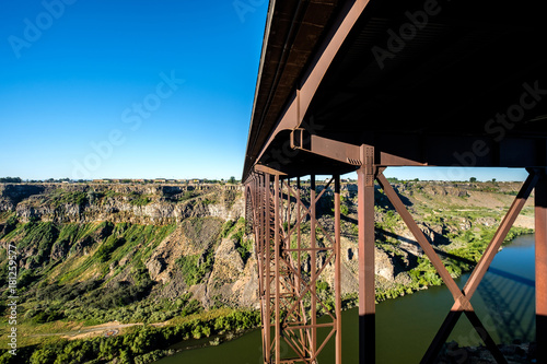 mata magnetyczna Snake River and Perrine Bridge near Twin Falls, Idaho