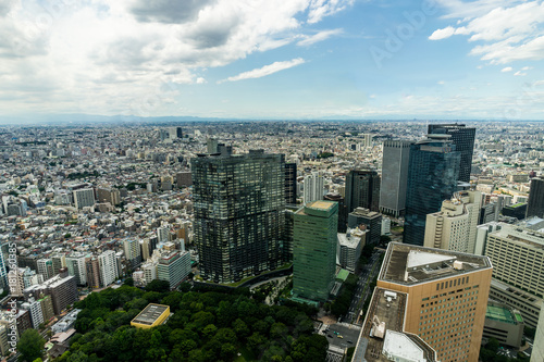 Plexiglas Tokio View over Tokyo from Government Building