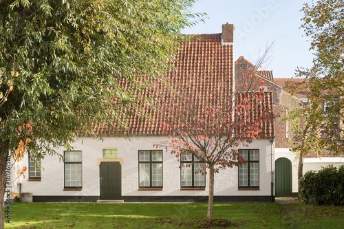 Poster Brugge Maison et jardin à Bruges