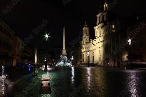 Foto op Canvas Rome Roma di notte: Piazza Navona
