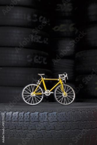 Deurstickers Fiets Bicicleta Amarela