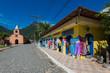 Quadro Small church and handcraft shop in the beautiful island near Rio de Janeiro city