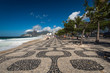 Quadro Famous Mosaic Sidewalk of Ipanema Beach in Rio de Janeiro, Brazil