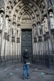 Tourist is take photo in Dome of Cologne, Germany - 181275318