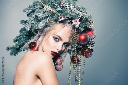 xmas model woman Plakát