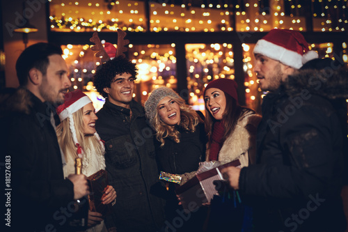 Best Friends At Christmas Night Poster