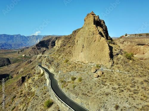 Poster Blauw Gran Canaria